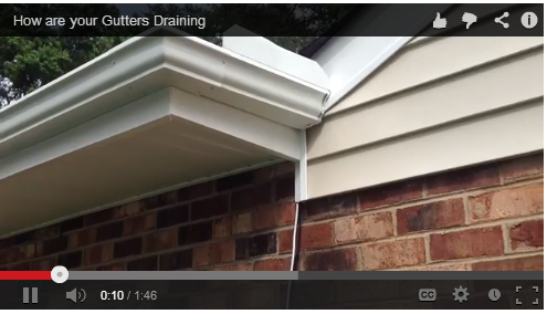 how are your gutters draining